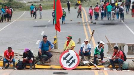 indigenas cauca via panamericana
