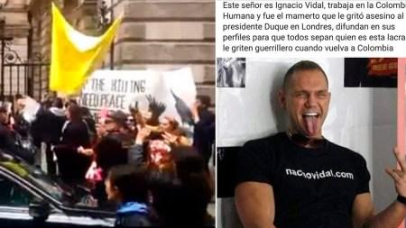 nacho vidal protestas londres duque