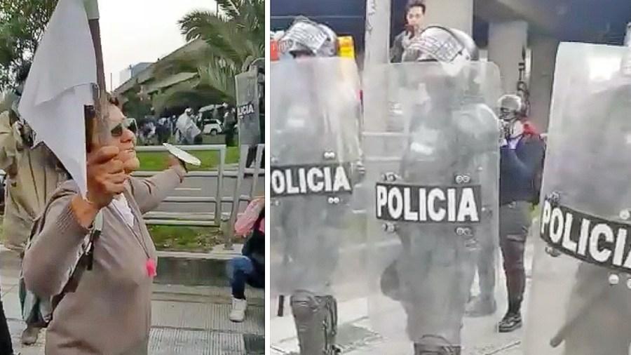 policia señora bogota
