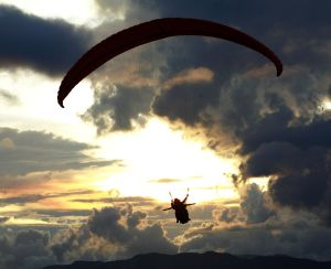 an adventure to touch the paragliding clouds