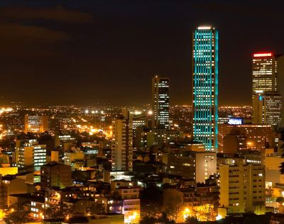 Beautiful Bogota at night