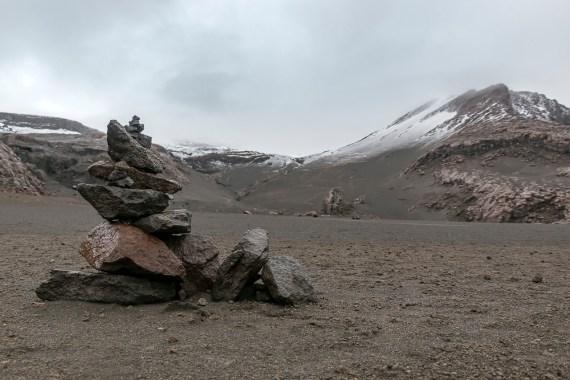 Pila de Rocas Nevado del Ruiz