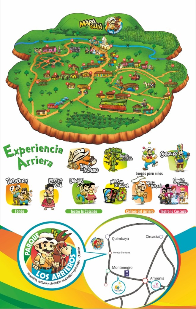 Guide map of the arrieros park