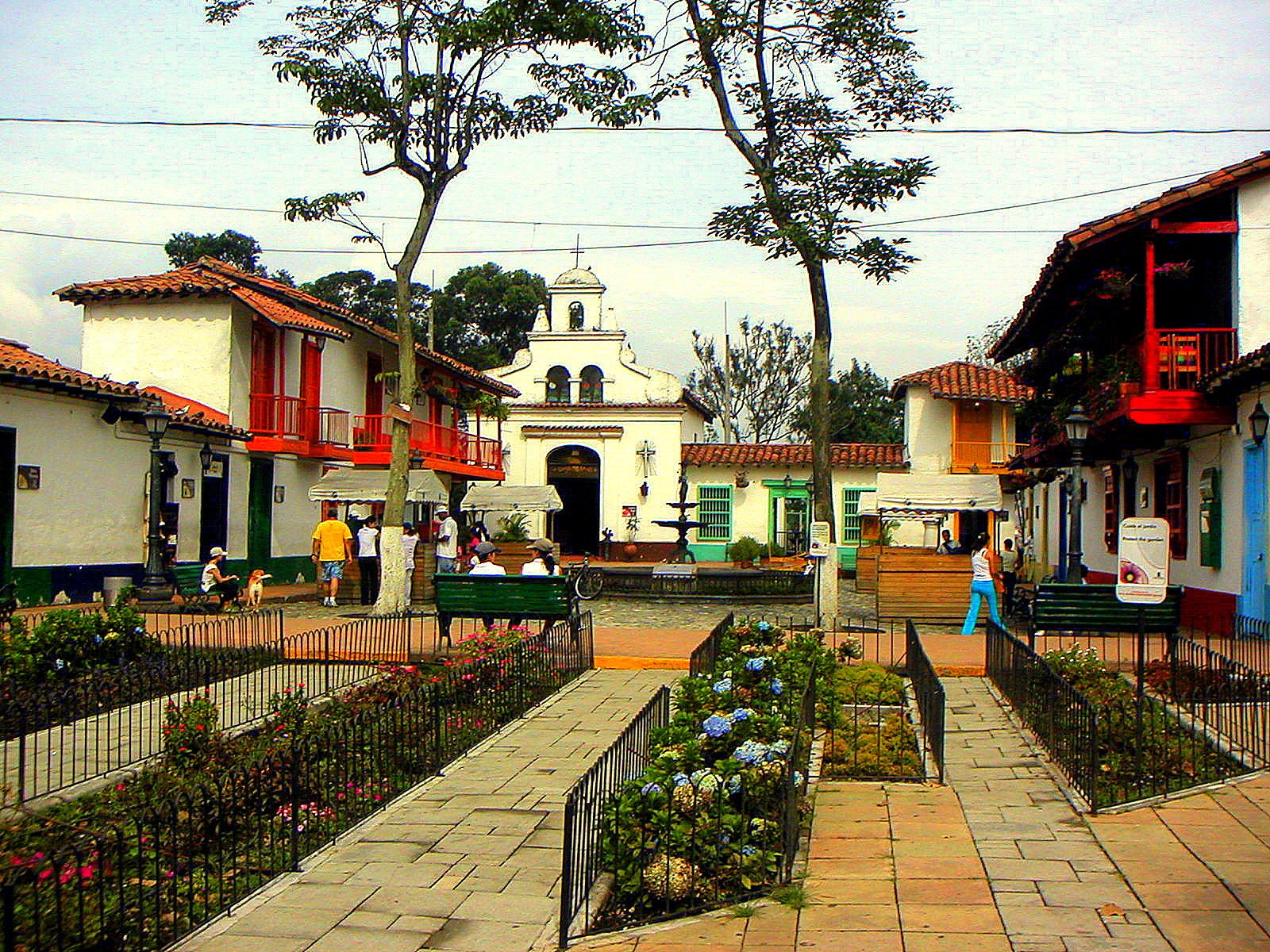 Pueblito paisa in Medellín, a place of traditional Antioquia architecture.