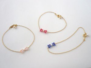 mini-ribbon bracelets
