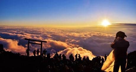 Sunrise on Mount Fuji.