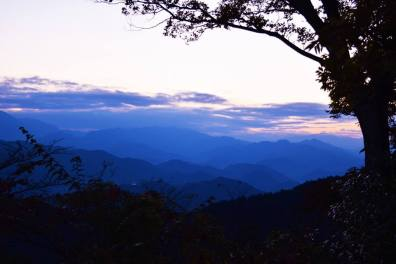 View from Mount Takao Summit