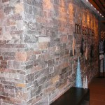 Elite Blue & Colonial Classic Granite Drystack Sawn Height Milestone wall
