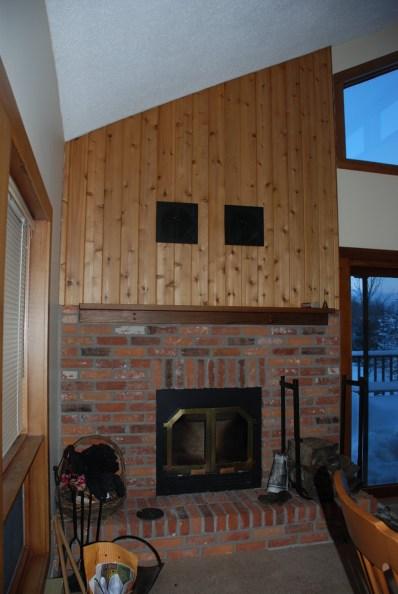 Elite Blue Granite Brown Blend Fireplace Before