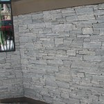 Elite Blue Granite Drystack Ledgerock wall