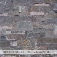 Elite Blue Granite Drystack Sawn Height