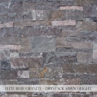 Elite Blue Granite Drystack Sawn Height