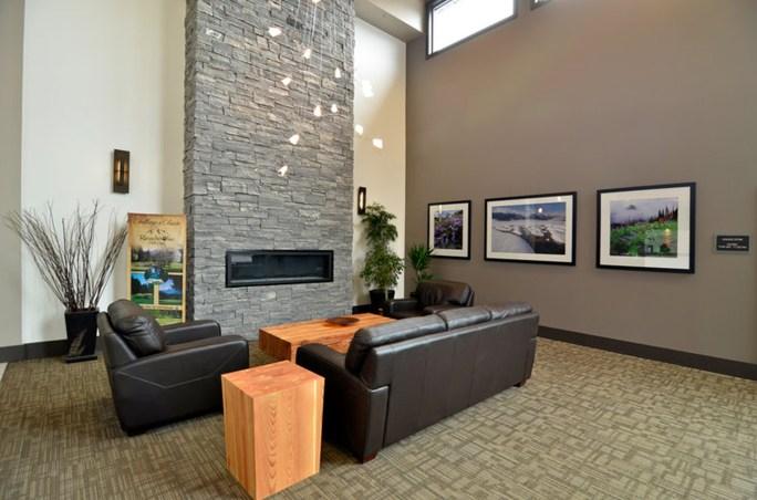 Elite Blue Granite Ledgerock Best Western fireplace