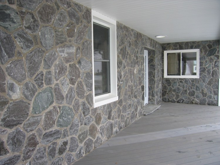 Elite Blue Granite Random front porch wall