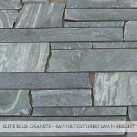 Elite Blue Granite Sawn & Textured Sawn Height