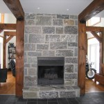 Elite Blue Granite Squared fireplace