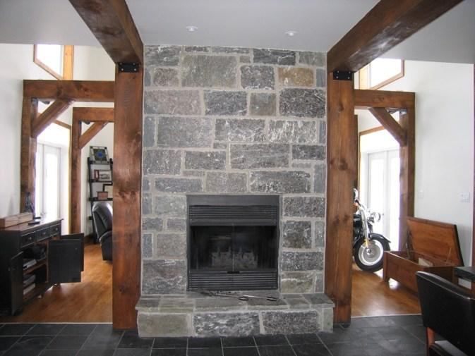 Elite Blue Granite Squared fireplace