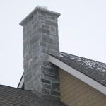 Elite Blue Granite outside chimney