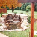 backyard waterfall limestone prebuilt