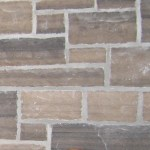 brown limestone ledgerock closeup