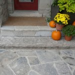 Brown Limestone Rockfaced Step