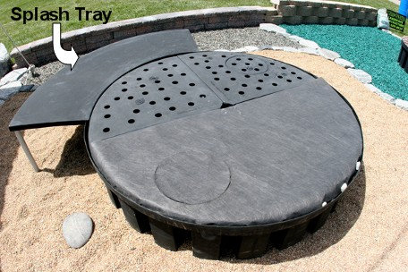 bubbling boulder basin splash tray
