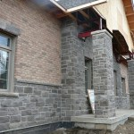 charcoal limestone tigerstripe ledgerock building front pillar