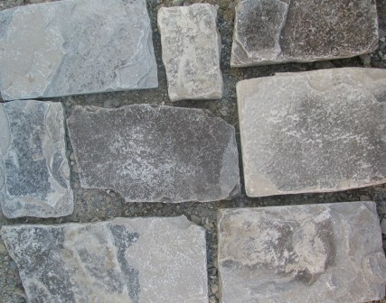 Charcoal Limestone Tumbled Squared
