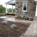 charcoal square cut flag walkway patio