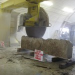 colonial's sawing large stone