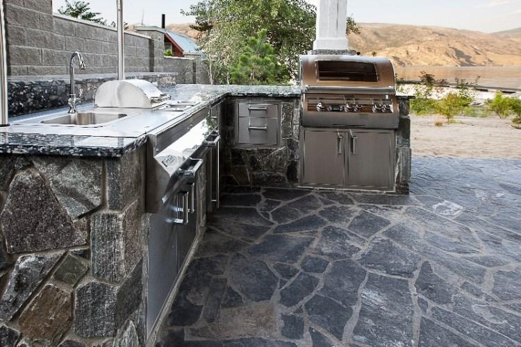 Elite Blue Granite Beach House Outdoor Kitchen