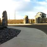 elite blue granite entrance pillars