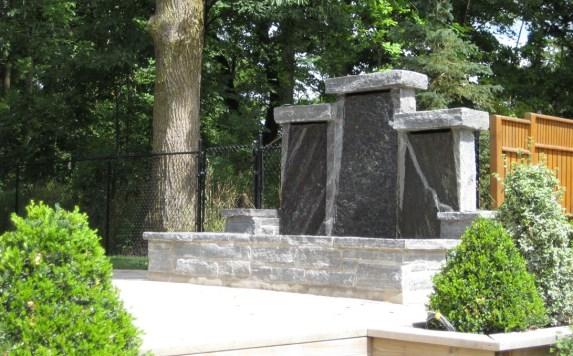 Elite Blue Granite Pillar Water Feature