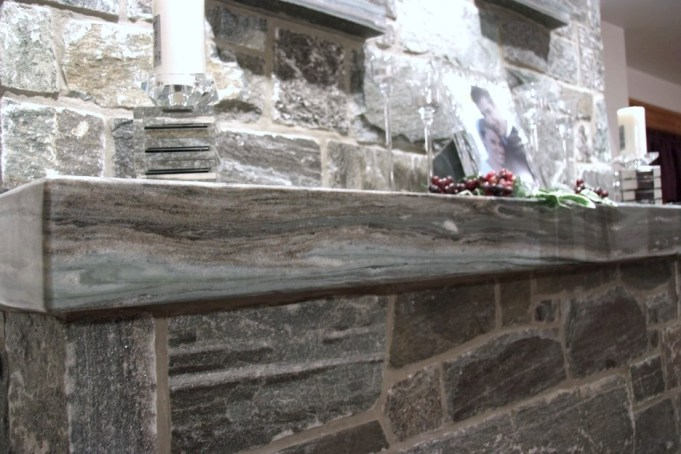 elite blue granite polished mantle