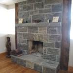 elite blue granite squared indoor fireplace