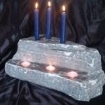 elite blue grantie candle holder