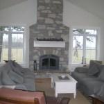 fireplaceweatheredge limestone tumbled blend on fireplace