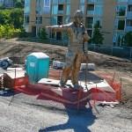 granite fire fighters memorial statue pillar