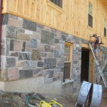 granite sawn and chiseled barn foundation