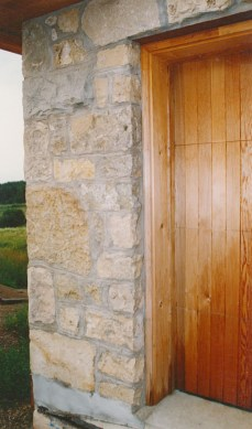 harvest gold garage corner