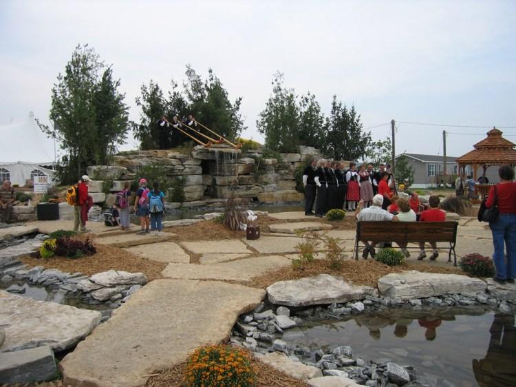 Harvest Gold Limestone Natural Stone Bridge