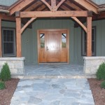 harvest gold limestone tumbled blend front entrance
