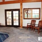 interior stone floor pool house charcoal limestone