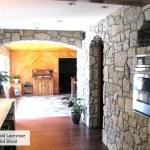 interior stone harvest gold limestone tumbled blend indoor kitchen