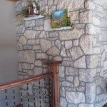 interior stone harvest gold limestone tumbled blend wall indoor
