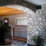 interor stone harvest gold limestone tumbled blend arch