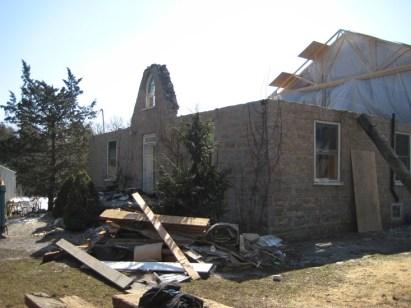 Limestone House Before Restoration (under constructions)