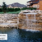 limestone waterfall pond