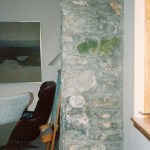 old mill ruins interior wall