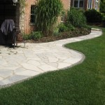 random flagstone paito and walkway charcoal limestone